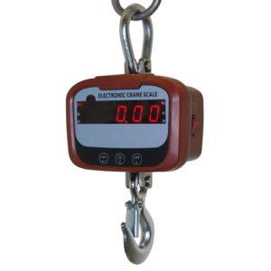 Фото крановых весов до 1000 кг со светодиодным дисплеем в подвешенном состоянии
